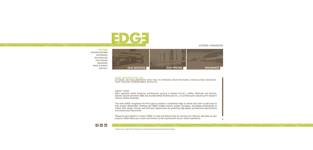 Edge Architecture Website