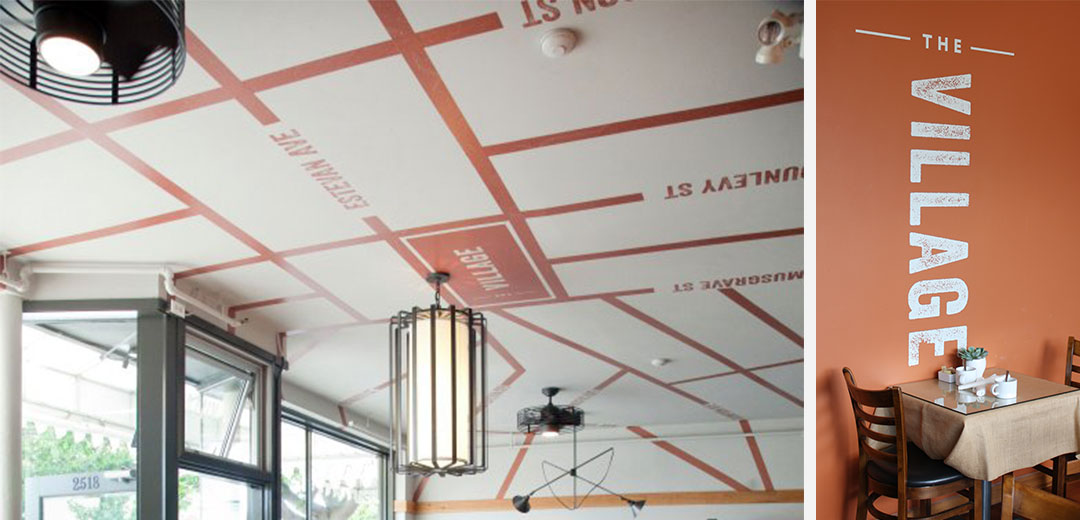 restaurant design vinyl branding application