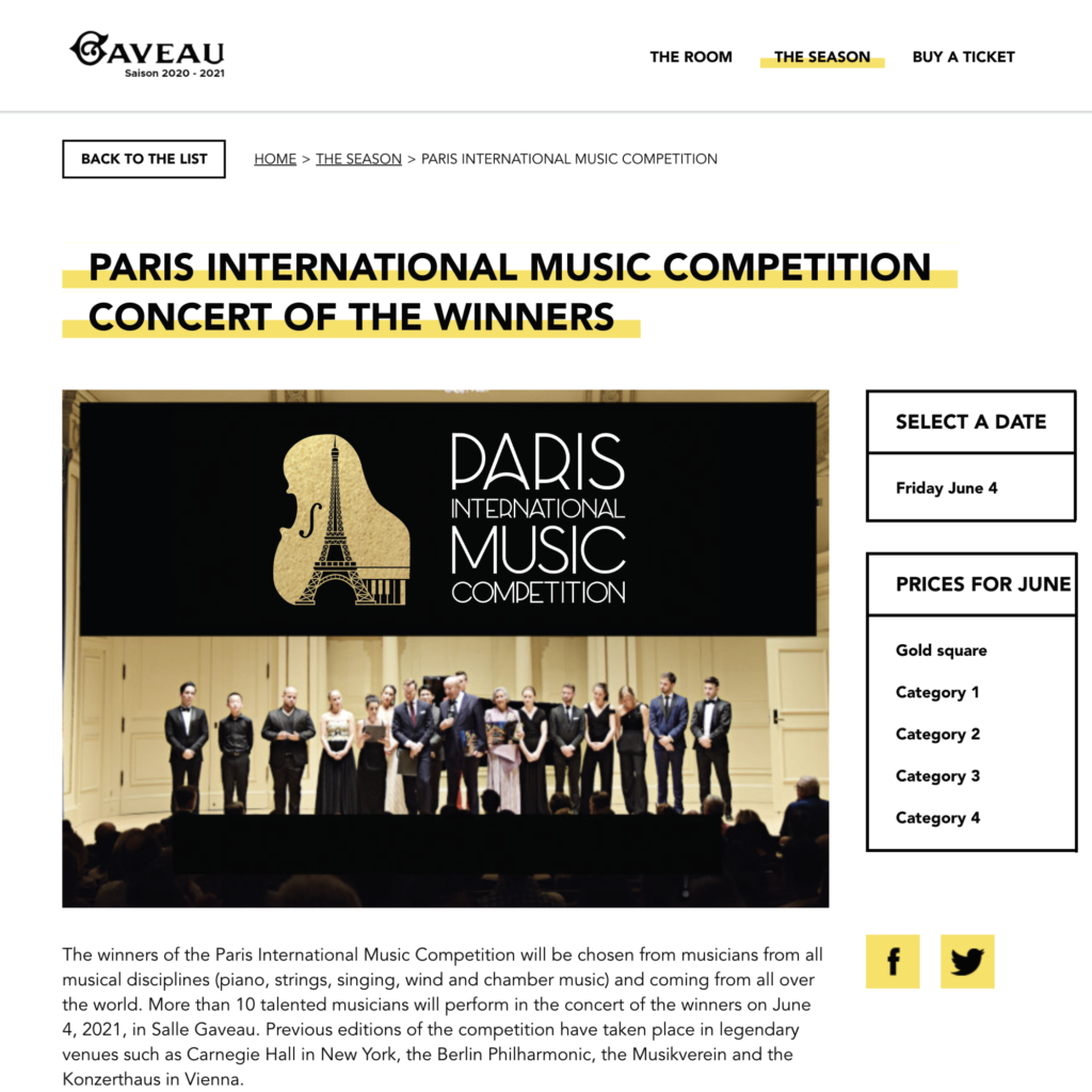 Meade Design Group Creates Logo for 2020 Paris International Music Competition