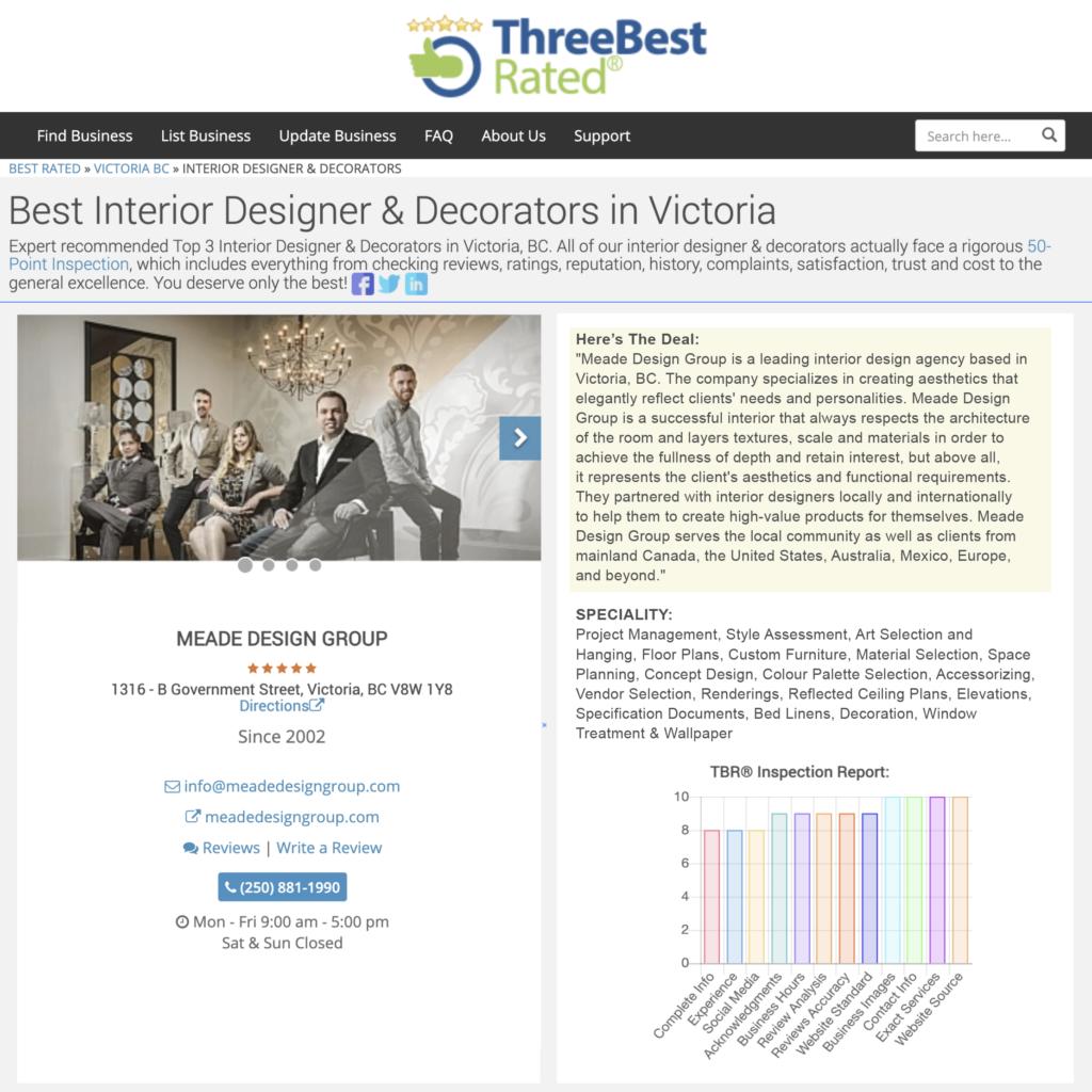 Meade Design Group Rated Top 3 Best Interior Designer & Decorators In Victoria for 2021