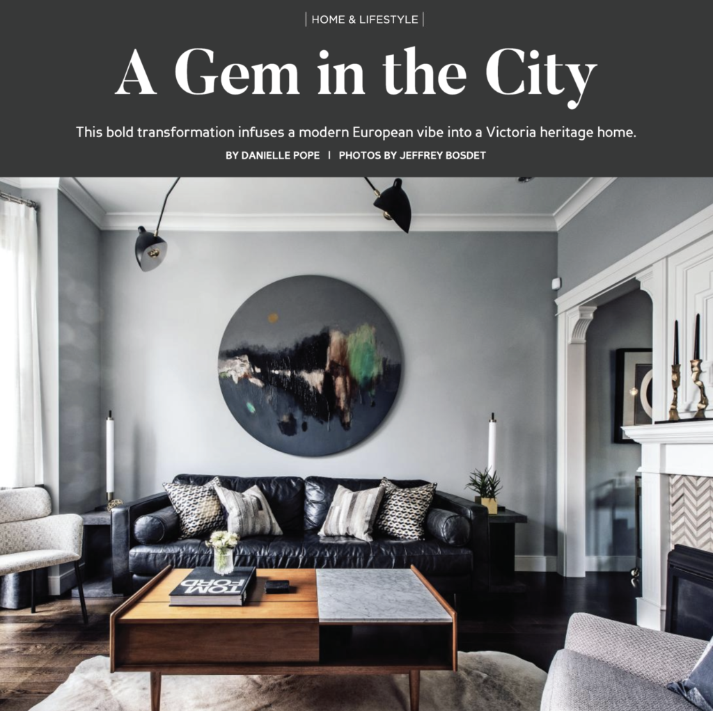 YAM Magazine's Multi-Page Article Showcases A Recent Meade Design Group Residential Project