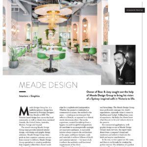 SPRUCE Magazine 'Designer Profile' – Iván Meade, Meade Design Group