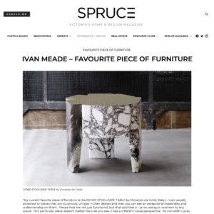 SPRUCE Magazine, Iván Meade – Favourite Piece of Furniture